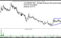 Jayshree Tea – Triangle Breakout. Upside Target 100/108. Stoploss 87.5
