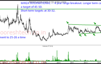 Mirza International – 4 year range breakout. Long term target 45 – 50