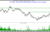 VIP Industries  – Cup and Handle Breakout. Target 90